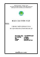 Đề tài Chỉnh lý biến động đất đai huyện Ninh sơn tại tỉnh Ninh Thuận