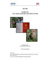 Đề tài Nghiên cứu thực trạng lâm nghiệp cộng đồng Việt Nam