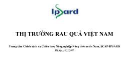 Đề tài Thị trường rau quả Việt Nam