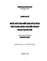 Khóa luận Bước đầu tìm hiểu một số di tích thờ danh nhân Nguyễn Trung Ngạn tại Hà Nội