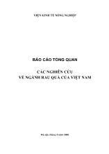 Luận văn Các nghiên cứu về ngành rau quả của Việt Nam