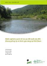 Luận văn Kinh nghiệm quốc tế và các đề xuất sửa đổi khung pháp lý về định giá rừng tại Việt Nam