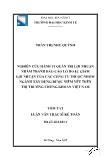 Luận văn Nghiên cứu hành vi quản trị lợi nhuận nhằm tránh Báo cáo lỗ hoặc giảm lợi nhuận của các công ty thuộc nhóm ngành xây dựng được niêm yết trên thị trường chứng khoán Việt Nam