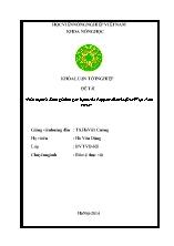 Luận văn Phát hiện và đánh giá tính gây bệnh của Pepper yellow leaf curl Việt Nam virus