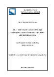 Luận văn Phát triển dịch vụ bảo lãnh tại ngân hàng TMCP Kỹ thương Việt Nam - Chi nhánh Đà Nẵng