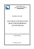 Luận văn Quản trị quan hệ khách hàng dịch vụ truyền hình Mytv tại VNPT Đắk Lắk