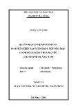 Luận văn Quản trị quan hệ khách hàng doanh nghiệp tại ngân hàng thương mại cổ phần sài gòn thương tín - Chi nhánh Quảng Nam