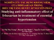 Nghiên cứu tác dụng kháng viêm của irbesartan trong điều trị tăng huyết áp nguyên phát