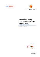 Thiết kế hệ thống Chia sẻ lợi ích REDD tại Việt Nam