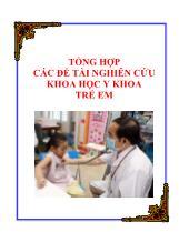 Tổng hợp các Đề tài nghiên cứu khoa học y khoa trẻ em