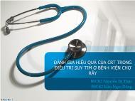 Y khoa - Dược - Đánh giá hiệu quả của crt trong điều trị suy tim ở bệnh viện chợ rẫy