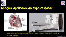 Y khoa - Dược - Rò động mạch vành: Giá trị clvt 256 dãy