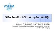 Y khoa - Dược - Siêu âm đàn hồi mô tuyến tiền liệt
