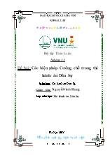 Đề tài Các biện pháp Cưỡng chế trong thi hành án Dân Sự - Nguyễn Vinh Hưng